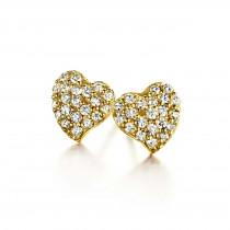 Glowing Heart Earrings