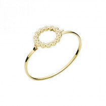 Marguerit Armring - 5mm bred med 14x5mm