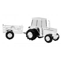 NOA - Sølvplet Sparebøsse Traktor m/vogn
