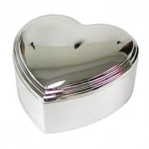 NOA - Sølvplet hjerte smykkeskrin 10x10