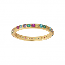 byBiehl Ring - Rainbow Sparkle - Forgyldt
