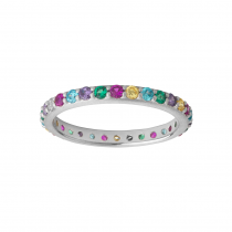 byBiehl Ring - Rainbow Sparkle - Sølv