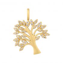 byBiehl Vedhæng - Tree of Life Sparkle - Forgyldt