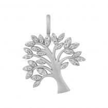 byBiehl Vedhæng - Tree of Life Sparkle - Sølv