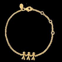 byBiehl Armbånd - Together Family 3 - Forgyldt