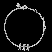 byBiehl Armbånd - Together Family 3 - Sølv