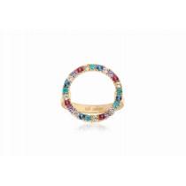 Biella Grande Ring - Multicoloured Zirconia