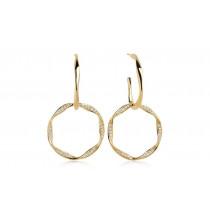Cetara Due Earrings - White Zirconia - Forgyldt