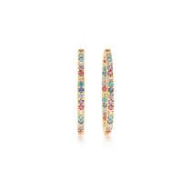 Bovalino Earrings - Multicoloured Zirconia